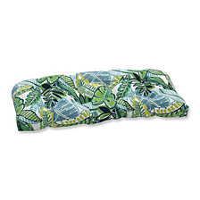 Aruba Jungle Green Wicker Loveseat Cushion