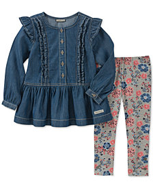 Calvin Klein Toddler Girls 2-Pc. Denim Tunic & Leggings Set