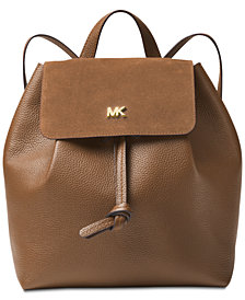 MICHAEL Michael Kors Junie Suede Flap Backpack