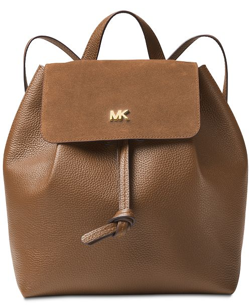 8b9273116c27 Michael Kors Junie Suede Flap Backpack & Reviews - Handbags ...