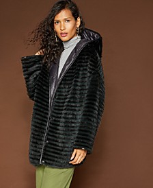 Reversible Mink & Rabbit Fur Coat