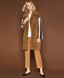 The Fur Vault Reversible Shearling Lamb Coat