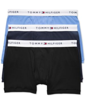 T-BAGS Tommy Hiliger Men'S 3-Pk. Trunks in Black