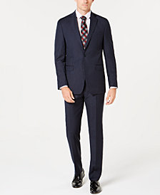 Calvin Klein Men's Slim-Fit Stretch Blue Pinstripe Suit