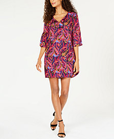 Pappagallo Maggie Printed Bell-Sleeve Dress