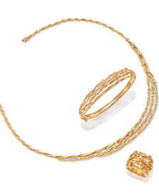 D'Oro by EFFY Diamond Embellished Necklace (1-5/8 ct. t.w.) in 14k Gold