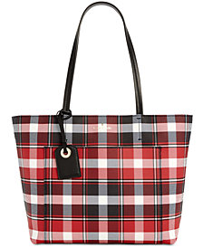 kate spade new york Hyde Lane Plaid Riley Small Tote