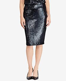 Lauren Ralph Lauren Sequined High-Waisted Skirt