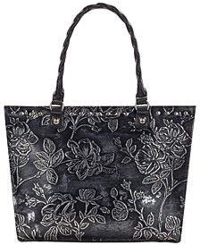 Zancona Metallic Embossed Leather Tote, Created for Macy's