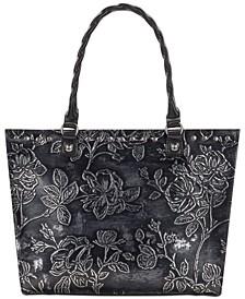 Zancona Metallic Embossed Leather Tote, Created for Macy's