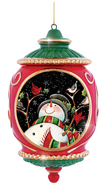 Precious Moments Snowman With Birds Ornament