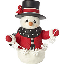 May All Your Christmases 8th in Annual Snowman Series Figurine