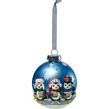 Caroling Penguins Ornament