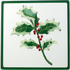 Celebrations by  Christmas Holly Cutting Board and Trivet