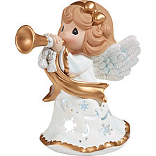 Angels We Have Heard On High Lighted Musical Angel Figurine