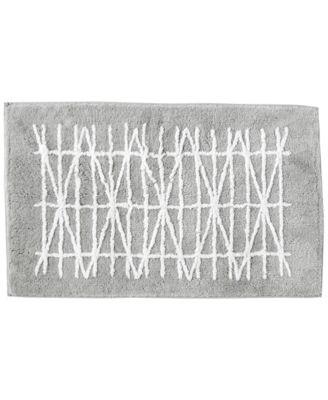 "Geometrix Cotton 21"" x 34"" Bath Rug"