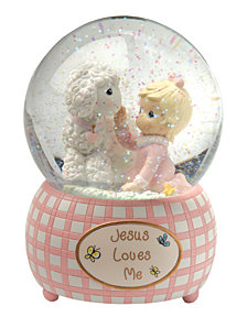 Jesus Loves Me Snow Globe, Girl
