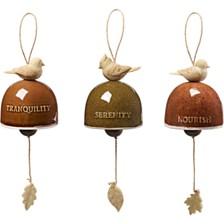 Garden Delights Bird Trio Set of Three Hanging Bells