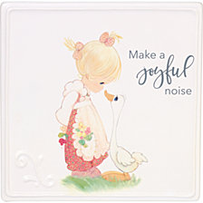 Make A Joyful Noise Girl With Goose Wall Plaque