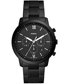 Fossil Men's Neutra Chronograph Black Stainless Steel Bracelet Watch 44mm