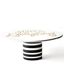 Coton Colors Happy Everything!™ Collection Black Stripe Ruffle Cake Stand