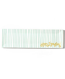 Coton Colors Happy Everything!™ Collection Mint Stripe Skinny Rectangle Tray