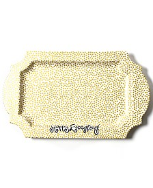 Coton Colors Happy Everything Collection Gold Small Dot Traditional Tray