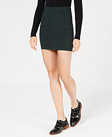Free People Modern Femme Plaid Mini Skirt