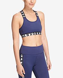 DKNY Sport Cross-Back Medium-Impact Sports Bra, Created for Macy's