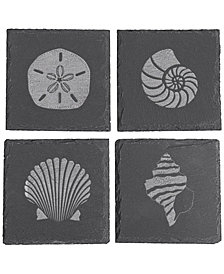 Cathy's Concepts Slate Shell Coasters, Set Of 4