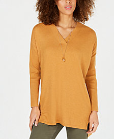 Style & Co Petites High-low Over-sized Tunic Sweater, Created for Macy's