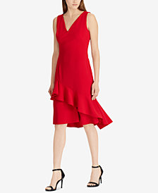 Lauren Ralph Lauren Ruffled Sleeveless Dress