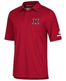 adidas Men's Miami (Ohio) Redhawks Team Iconic Coaches Polo