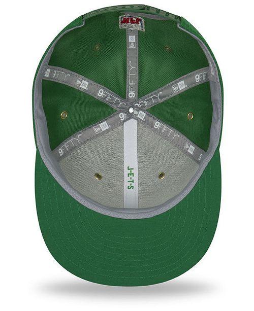 317634133 New Era New York Jets On Field Color Rush 9FIFTY Snapback Cap ...