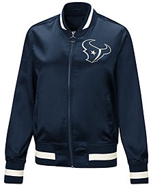 Touch by Alyssa Milano Women's Houston Texans Touch Satin Bomber Jacket