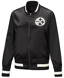 Touch by Alyssa Milano Women's Pittsburgh Steelers Touch Satin Bomber Jacket