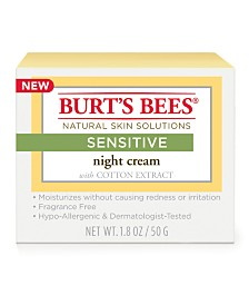Burt's Bees Sensitive Night Cream, 1.8 oz