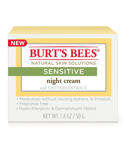 Burt's Bees Sensitive Night Cream, 1.8 oz