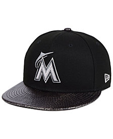 New Era Miami Marlins Snakeskin Sleek 59FIFTY FITTED Cap