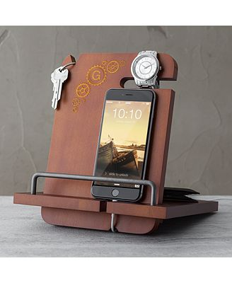 Cathy S Concepts Personalized Steampunk Wooden Docking Station Macy S