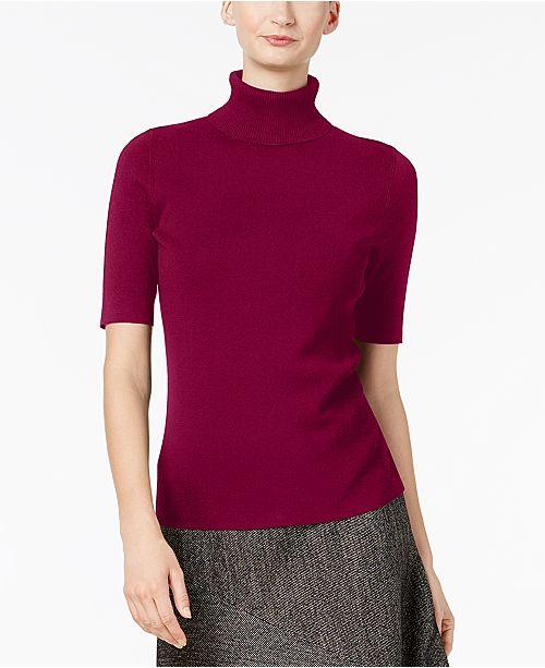 cf0a162768e Anne Klein Turtleneck Sweater   Reviews - Sweaters - Women - Macy s