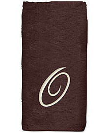 Avanti Initial Script Embroidered Hand Towel