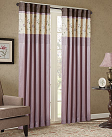 Madison Park Serene Embroidered Rod Pocket Window Treatment Collection