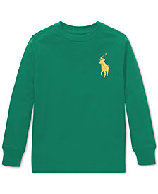 Polo Ralph Lauren Little Boys Cotton Long-Sleeve T-Shirt
