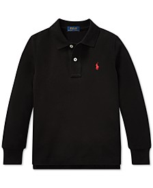 Big Boys Cotton Long-Sleeve Polo Shirt