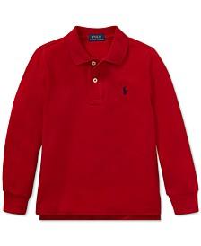 Toddler Boys Cotton Long-Sleeve Polo Shirt