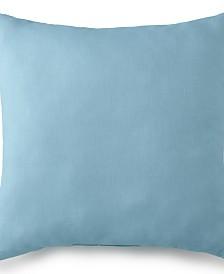 "Tropical Bloom Square Cushion 20""x20"" - Solid Aqua"