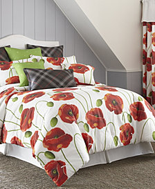 Poppy Plaid Duvet Cover Set California King