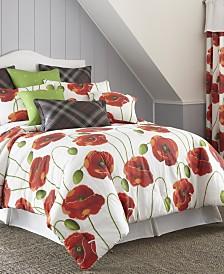 Poppy Plaid Duvet Cover Set-Full