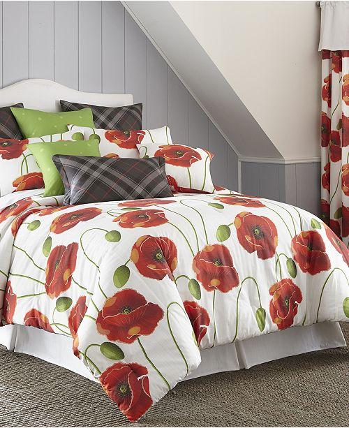 Colcha Linens Poppy Plaid Duvet Cover Set-Twin
